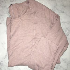 Dusty Rose Long Sleeve Top