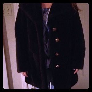 Brand new faux fur coat. Stylish, soft and thick.