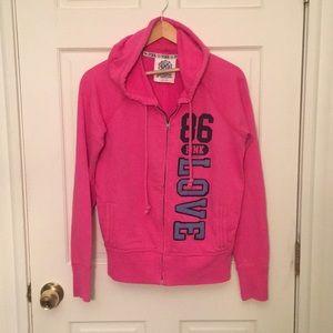 Victoria's Secret PINK Zip Up Sweatshirt, Size M