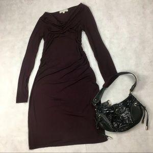 Ann Taylor LOFT WOMENS PLUM SUPER SOFT DRESS SMALL