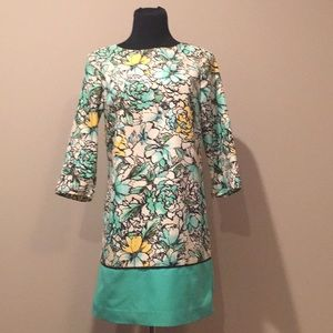 Floral long sleeve shift dress from The Limited