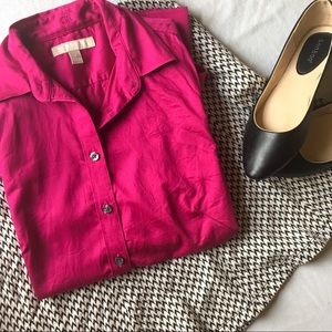 Banana Republic pink non-iron fitted button-down