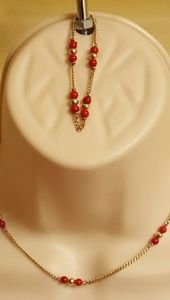 Authentic 10k necklace and bracelet set.