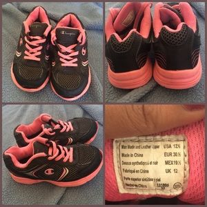 Other - Pink and Black Sneakers