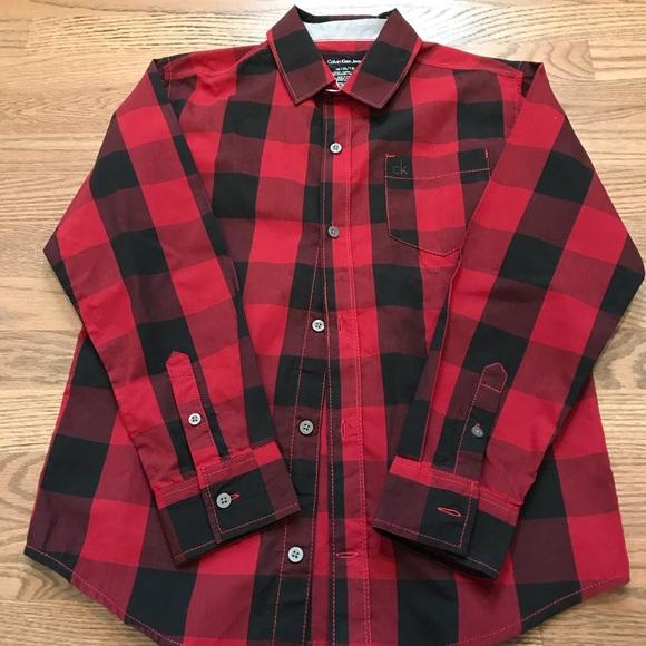 Calvin Klein Other - Calvin Klein size 10-12 boys button up shirt