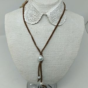 Chan Luu Suede and Freshwater Pearl Necklace