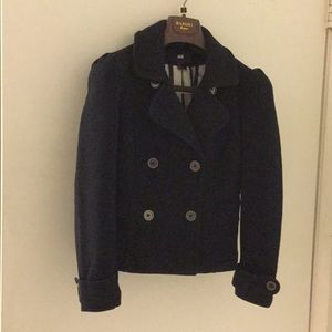 H&M Very Good Condition Cotton Black Pea Coat