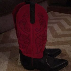 Woman's cowgirl boots.
