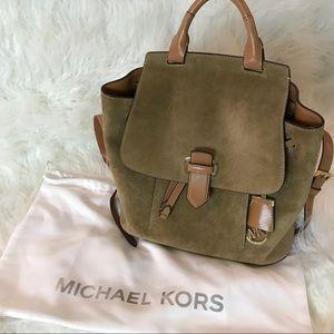 Michael Kors Suede Backpack