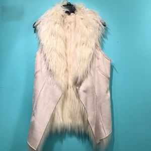 Freeway reversible faux fur vest