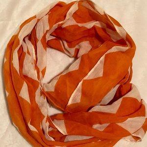 Orange and Cream Scarf