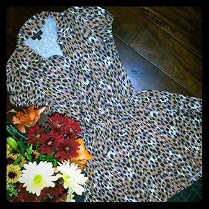 EUC Topshop 👗 animal print midi 👗 dress