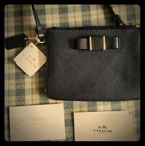 NWT Coach Wristlet Midnight Blue