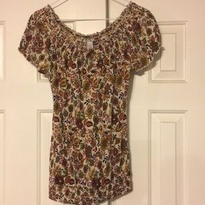 Lucky Brand Size Small flowered blouse