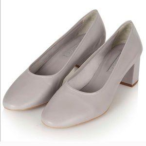 topshop grey chunky heels
