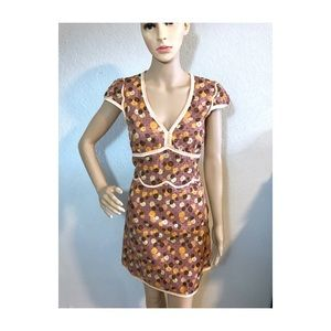 Marc Jacobs embroidered orange dress