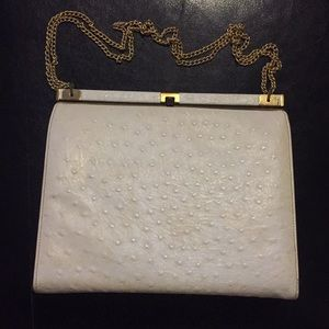 1950s Richcraft Andre Ostrich Leather Handbag
