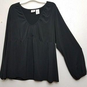 Plus size flowy blouse