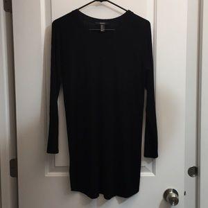 Long Sleeve Forever 21 Black Dress