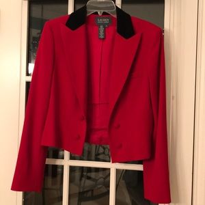 Red and Black Lauren Ralph Lauren Blazer