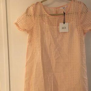 BBdakota peach shift dress