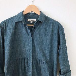 Madewell x Rivet & Thread Denim Ruffle Shirt