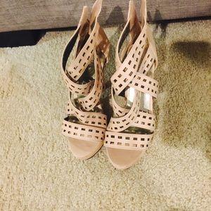 Pink platform heel