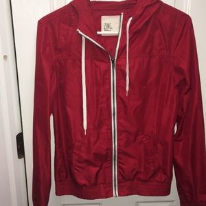 Woman's Red Windbreaker