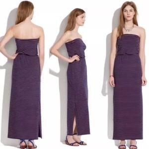 NWT Madewell Striped Weekender Dress