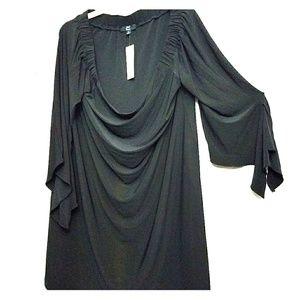 Plus size stretchy flowy dress