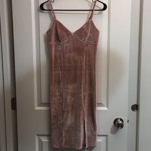 Velvet Pink Forever 21 Dress