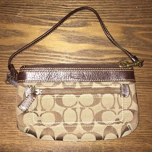 Coach Logo Wristlet *never used*