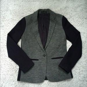 J. Crew Wool Blend Gray Navy Blue Blazer Size 4