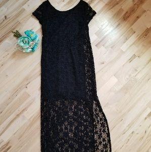 Xhilaration full length black dress