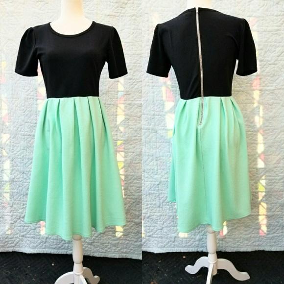 Lularoe Dresses Amelia Dress Blackmint Green Poshmark
