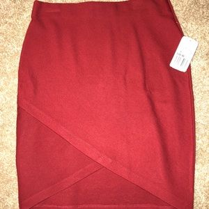 *never worn* Red Wrap Skirt