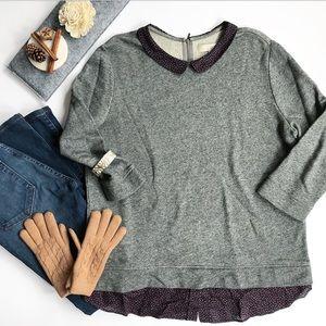 🆕 LOFT Sweatshirt with Floral Collar Size XL