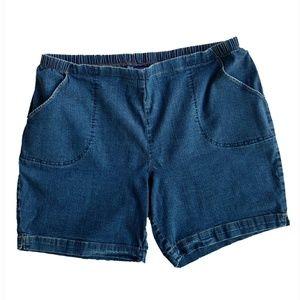JUST MY SIZE JMS 22w/24w Denim Blue Jean Shorts