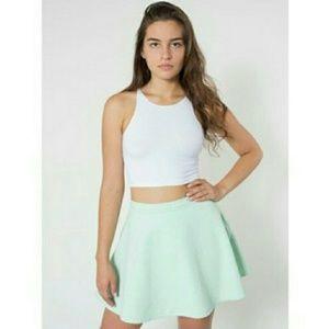American Apparel Pistachio Denim Circle Skirt
