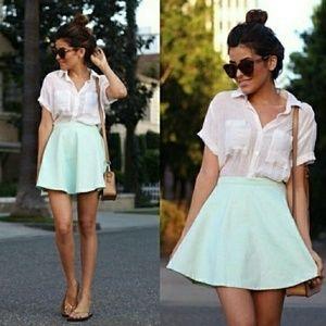 💖 American Apparel Natural Denim Circle Skirt