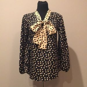 Polka dot bow top from Mudpie