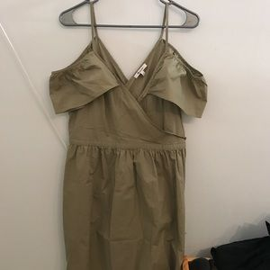 NWT madewell khaki off the shoulder dress