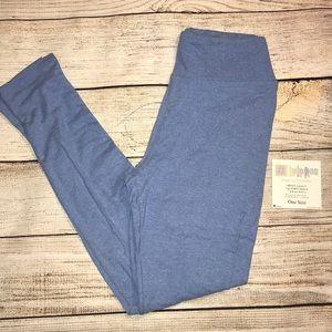 NWT LuLaRoe leggings- powder/light blue heathered