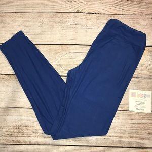 NWT LuLaRoe leggings- royal blue