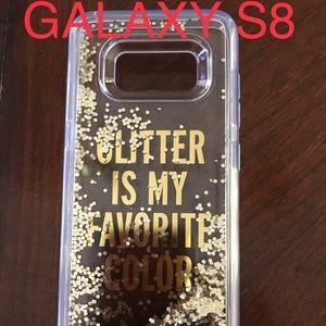 Liquid gold glitter S8 phone case by Kate Spade