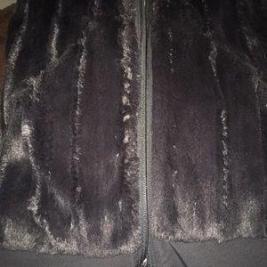 North face soft fur vest