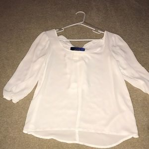 Francesca's white blouse with bow