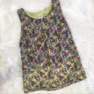 CAbi Floral Sleeveless Shirt
