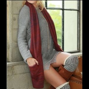 💠LAST 1⃣ 💠 RAMALIA hello fall knit scarf - RUST