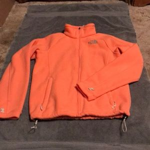 Orange/Peach North Face Fleece